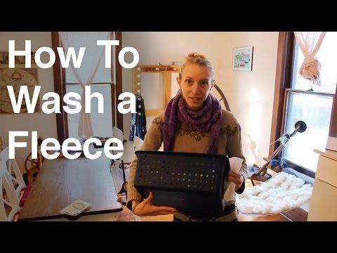 How to Wash a Wool (CVM) Fleece