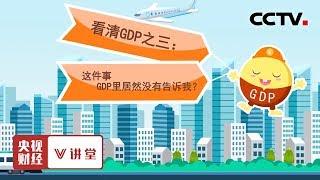 《央视财经V讲堂》 20190903 看清GDP之三:这件事 GDP里居然没有告诉我?| CCTV财经