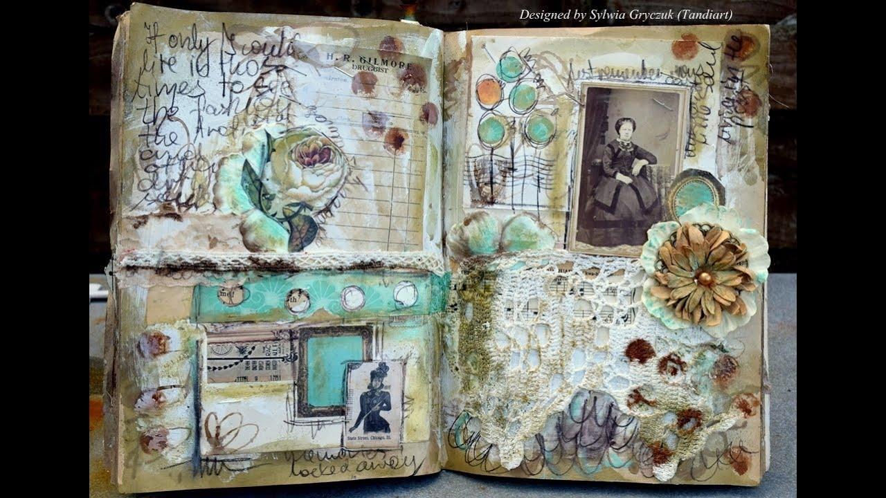 NaNoJouMo Art Journal Page - Steampunk - YouTube