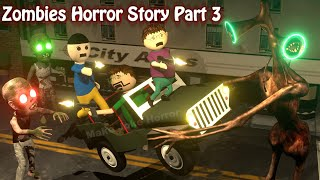 Zombies Horror Story Part 3 | Siren Head Game | Cartoon Movies | Best Animated Movies | 3d Animation