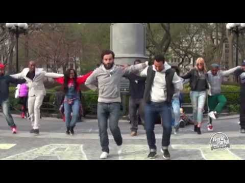 Harlem Shakers dance Greek sirtaki downtown Manhattan!! (World Party)