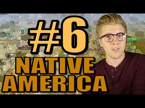 Civ V: Brave New World Gameplay - Native America Mods - Part 6 [AI Only]