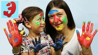 ПАЛЬЧИКОВЫЕ КРАСКИ ЧЕЛЛЕНДЖ: Играем в игру Рисуем краской на лице. Challenge