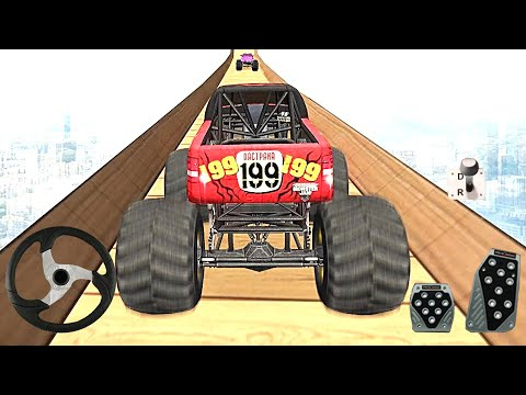 Monster Truck Stunts Impossible Track - Mega Ramp Monster Truck Driving Stunts Car Racing Game
