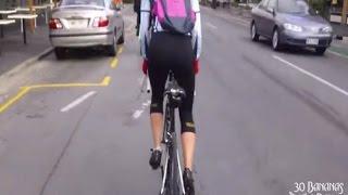 Cyclist Gets SLAMMED by Car Door!