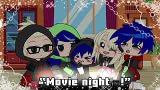Movie Night 🎥🌃 || {Future MLB🐞🐱} || •Gacha club skit ✏📓• || •A normal day with the Agreste's•
