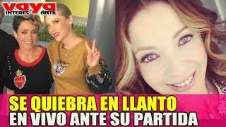 Carmen Munoz en vivo rompe en llanto ante la partida de Edith Gonzalez.