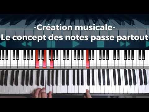 Création musicale - Le concept des notes passe partout pour les compositeurs de musique (film, jeux)