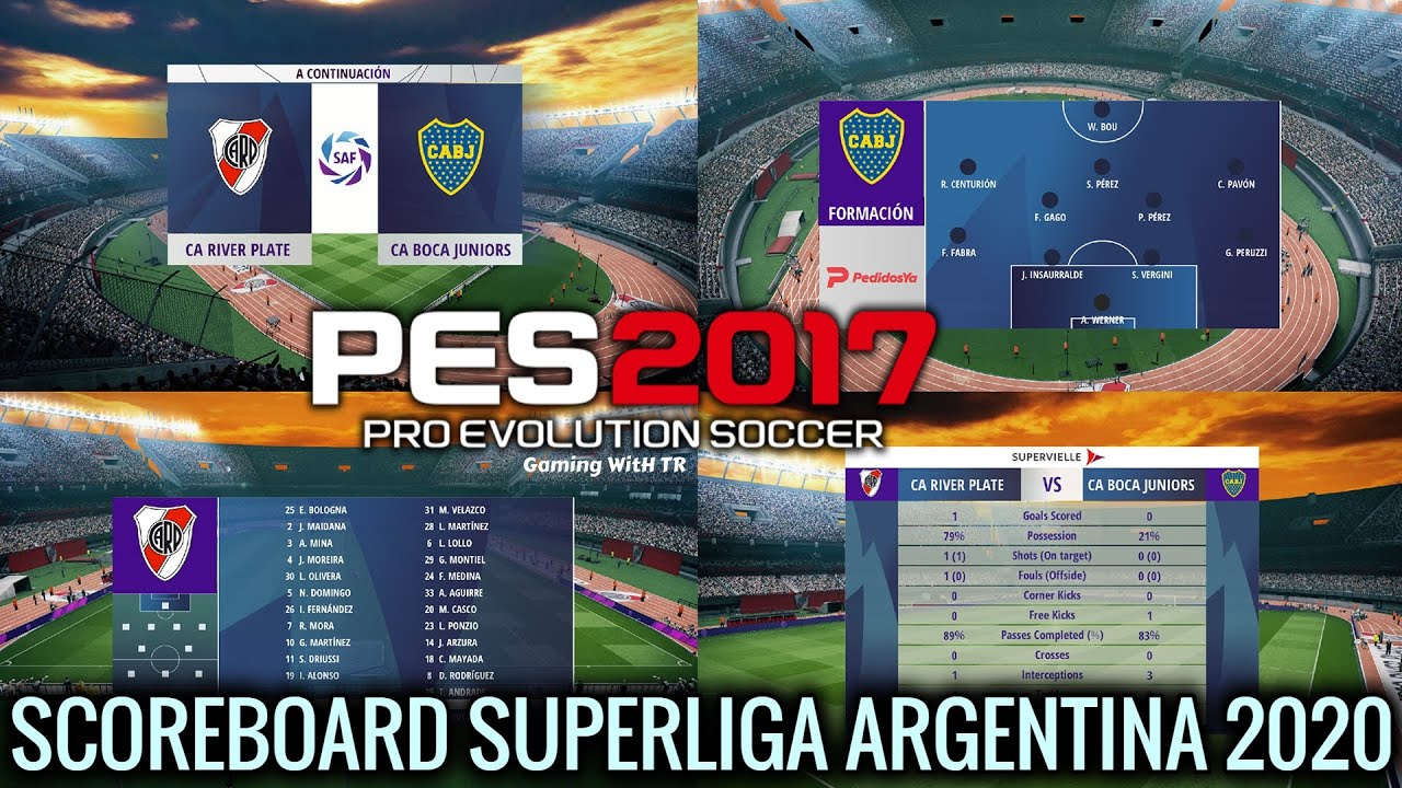 Pes 2017 New Scoreboard 2020 Superliga Argentina 2020 Gaming With Tr
