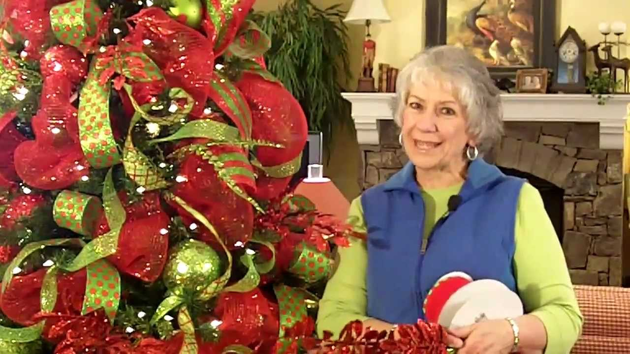 How Make Christmas Tree Topper Out Ribbon