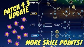 Fortnite STW Patch 4.3 Update: Increased Skill Points!