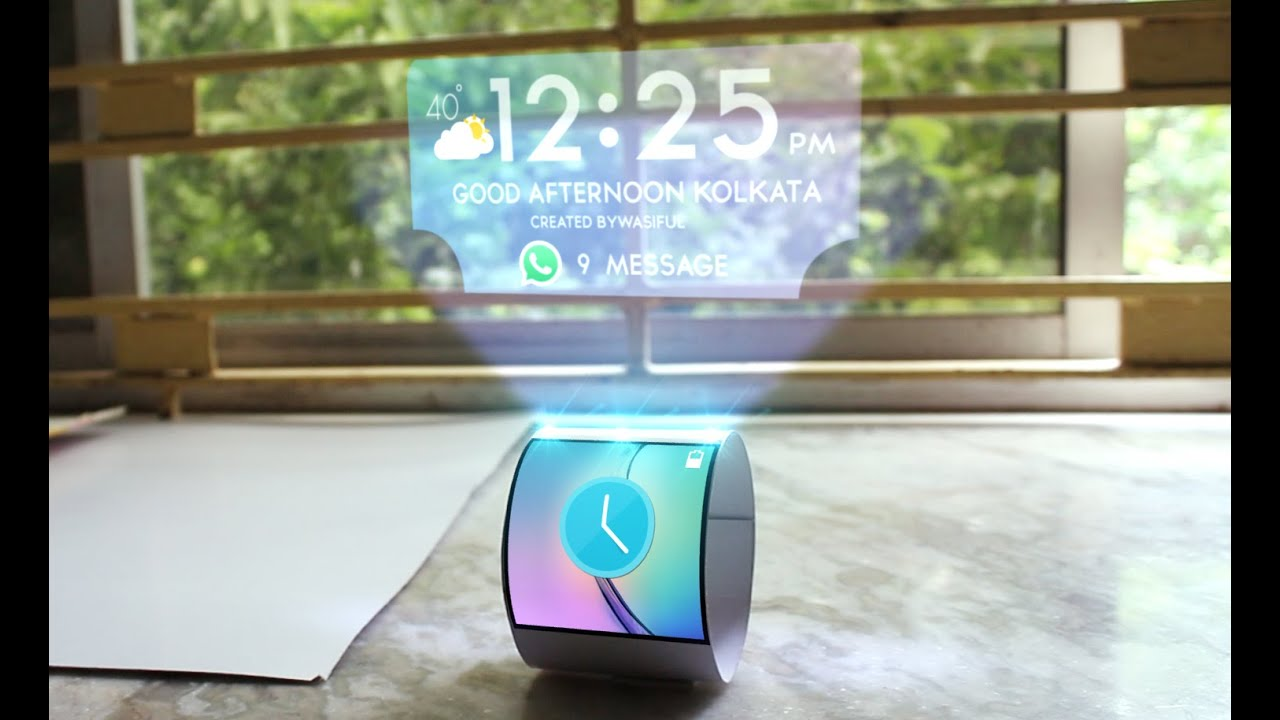 realistic watch hologram  samsung  in adobe after effects