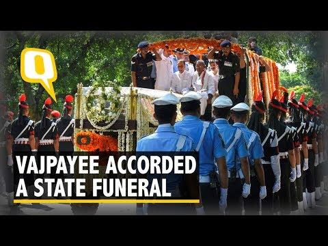 Atal Bihari Vajpayee Given a State Funeral at Rashtriya Smriti Sthal