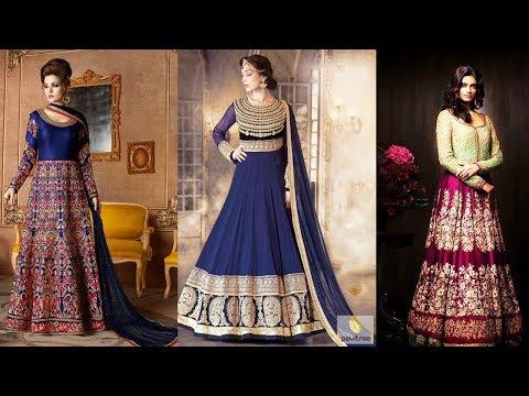 Long Anarkali Gown Dress Designs 2017 Part 16