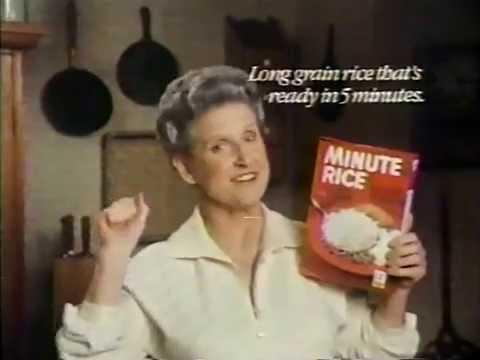 Ann B. Davis for Minute Rice 1980 TV commercial