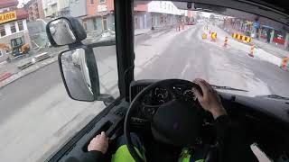Truck & Trailer, city streets, GoPro POV Head Mount. Stockholm 2016 HIGH QUALITY 60 FPS