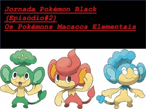 Jornada Pokemon Black Episodio 2 O Pokemon Macaco De Fogo Youtube