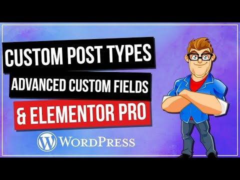 Custom Post Types And Advanced Custom Fields & Elementor Pro - 동영상