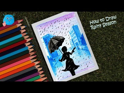 how-to-draw-scenery-of-a-city-girl-in-rainy-day-drawing-for-beginners