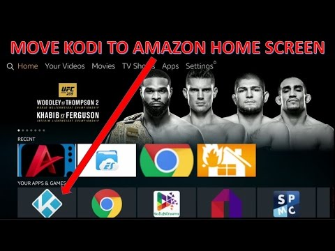 Move kodi to Amazon Homepage