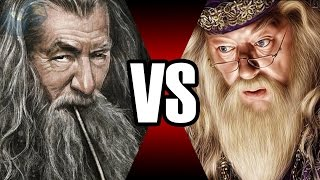 GANDALF VS DUMBLEDORE | BATALHA MORTAL | Ei Nerd