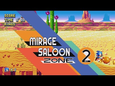 Sonic Mania - Mirage Saloon Zone (All Acts + Boss)