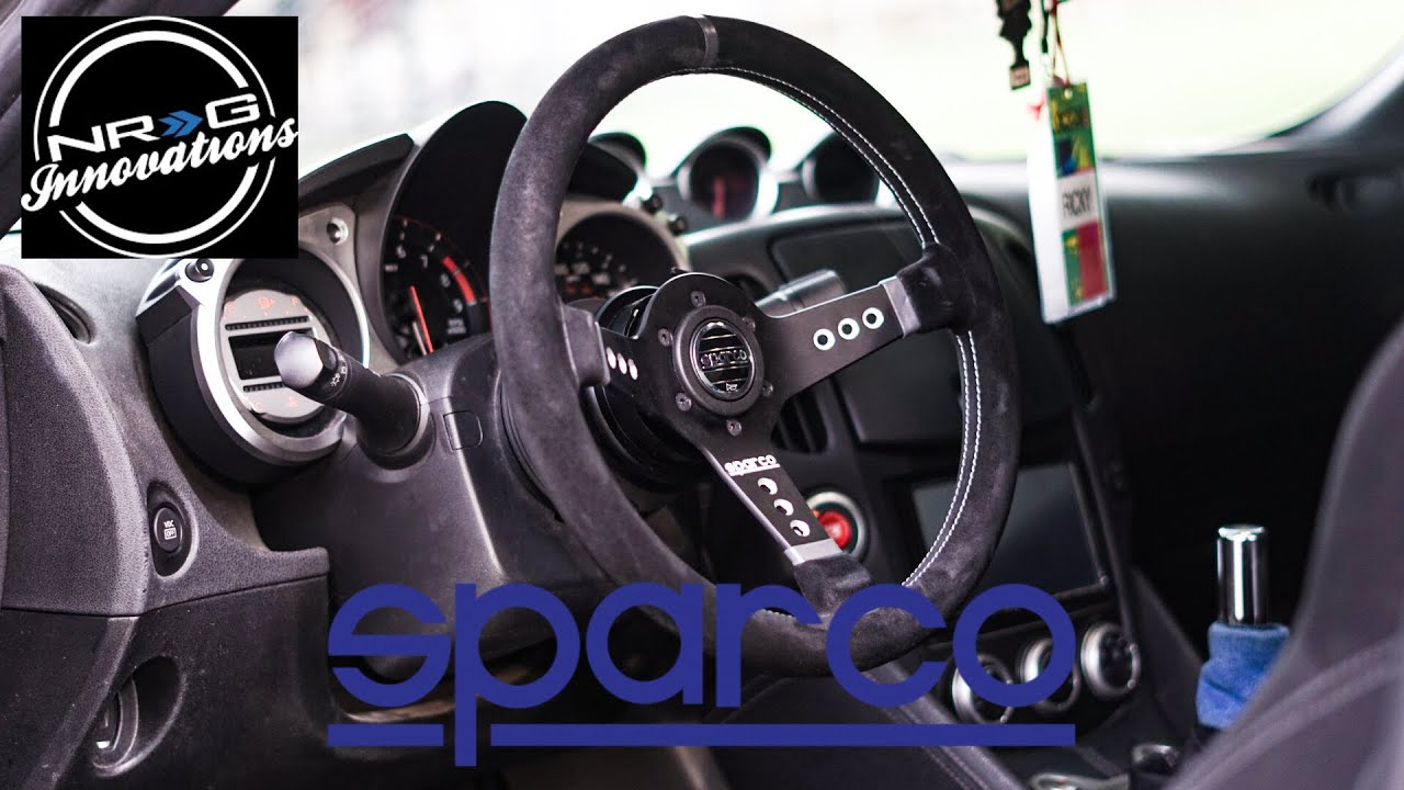 370z sparco quick release steering wheel install youtube 370z sparco quick release steering wheel install