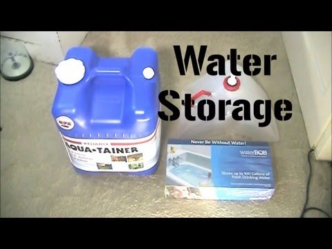 How To Store Water: Cheap and simple water storage ideas - OnTheMoveShow