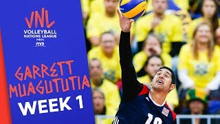 19 Points against Poland: Garrett Muagututia | Volleyball Nations League 2019