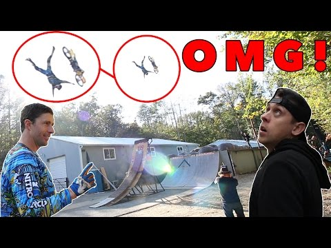Thumbnail: TRAVIS PASTRANA DOUBLE BACKFLIP FAIL!! (w/ Roman Atwood)