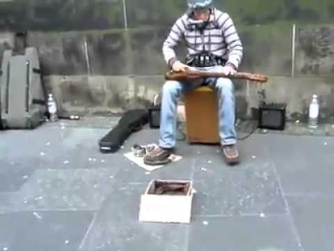 Talented slide guitar