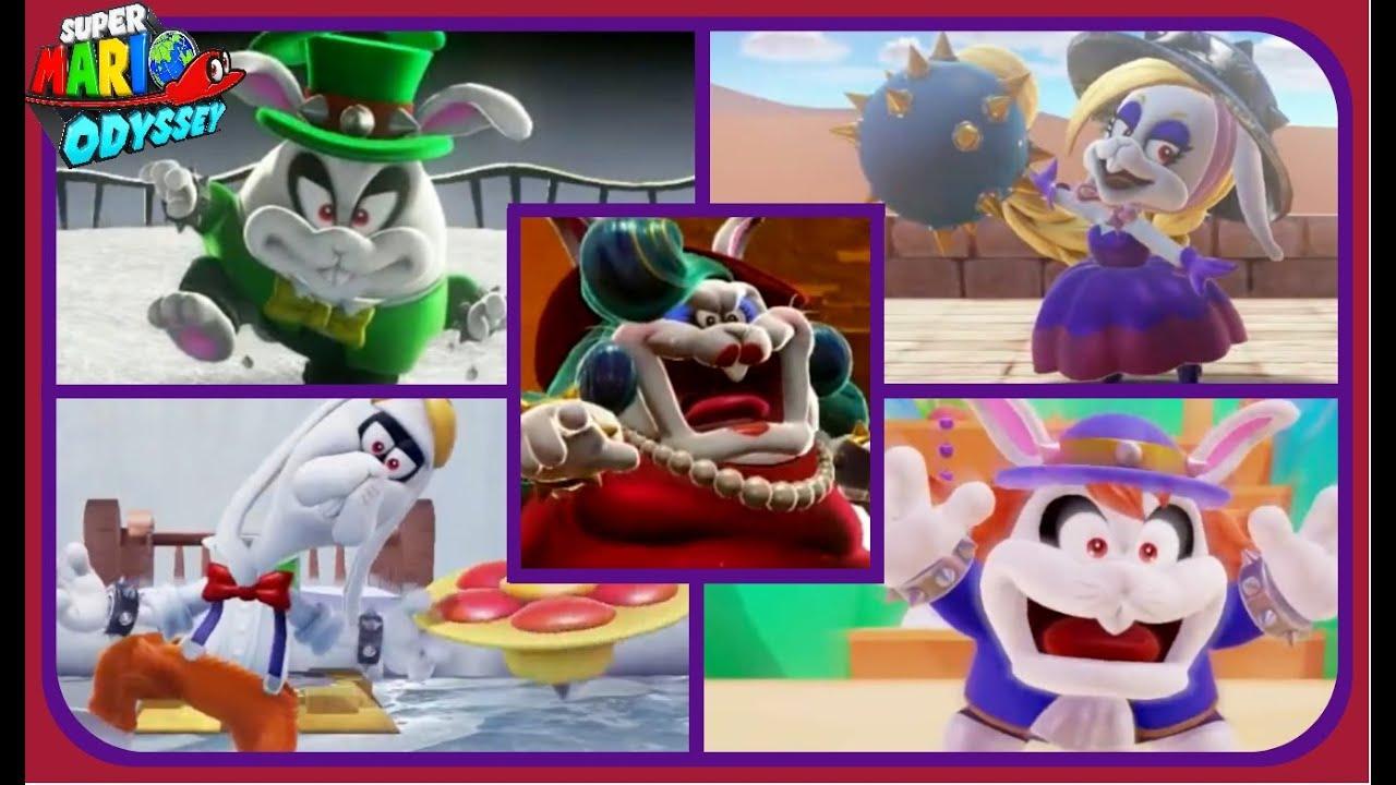 Super Mario Odyssey All Broodal Boss Encounters No
