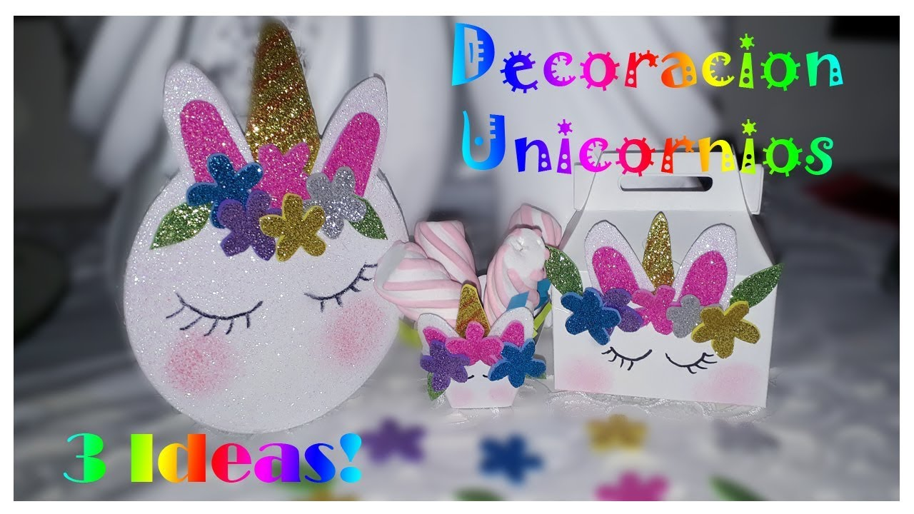 Decoracion de fiestas con tema de unicornio 3 ideas youtube - Ideas decoracion fiestas ...
