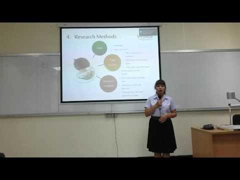 การนำเสนอบทความวิจัยภาษาอังกฤษ