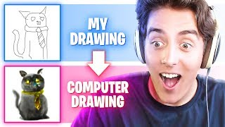 THIS COMPUTER DRAWS WHAT YOU'RE THINKING!