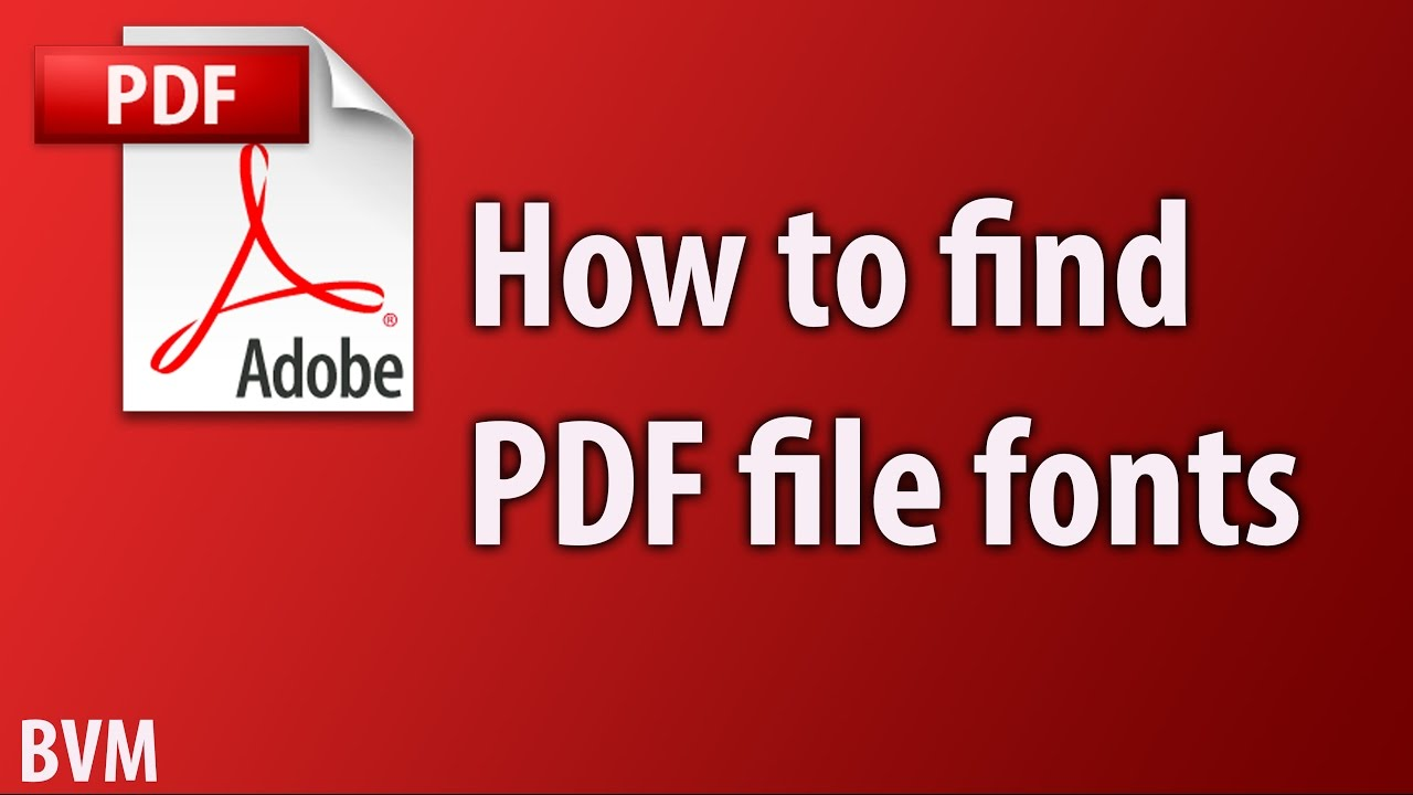 how to find pdf file fonts