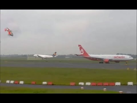 Webcam plane spotting at Düsseldorf airport - 22.9. 2014