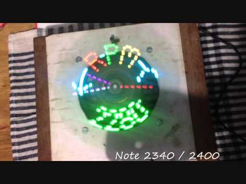 Displaying and Varying RPM limits on the Arduino based DIY Persistence of Vision Display Clock - YouTube