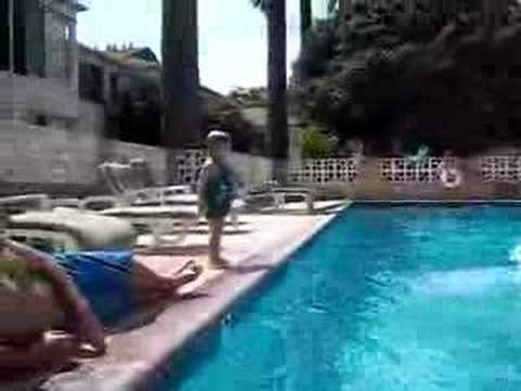 JacksonG jumps in the pool