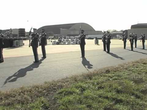 USAF Band And USAF Honor Guard Max Impact And Airstrike