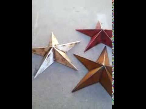 12 Inch Rustic Metal Brown Barn Star Country Primitive Home Decor Set 3 You