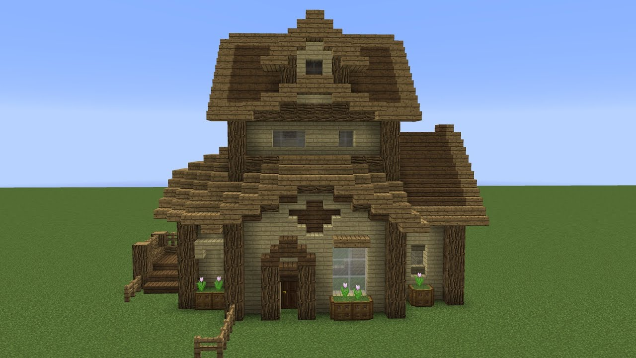 Minecraft Advanced House Tutorial How To Make Your
