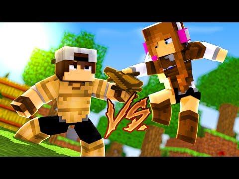 Minecraft: CORRIDA PVP - MADEIRA CLARA vs MADEIRA ESCURA!