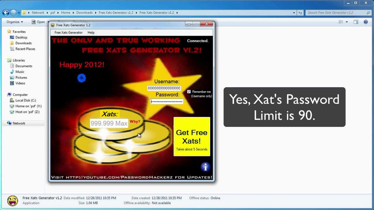 free xats and days generator v1.0 2013