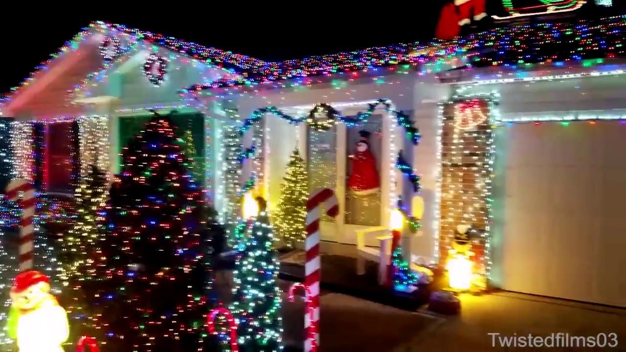 how to set up a christmas light display