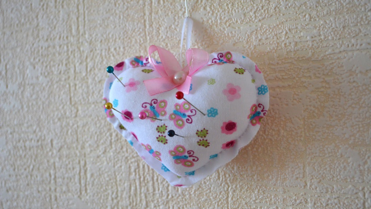 Make a Pretty Heart Pin Cushion - DIY Crafts ...