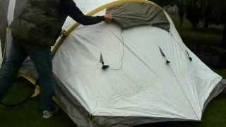 Туристическая палатка с надувным каркасом Quechua MSH - My Second Home. Распаковка и установка.