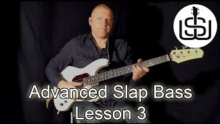 ADVANCED SLAP BASS by Scott Whitley Lesson 3 - Victor Wooten style lick 1
