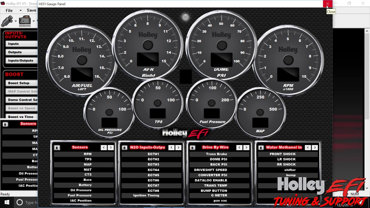 Holley Efi Inputs and Outputs configuration