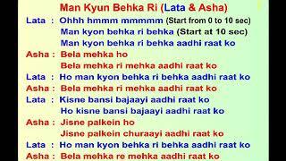 man kyun behaka ri....SKD Karaoke with Lyrics